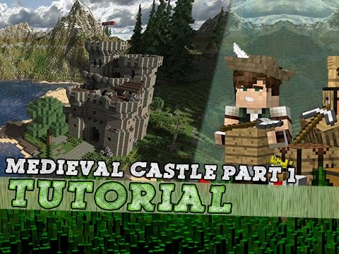 Minecraft Tutorial: How To Build A Medieval Keep Castle Part One