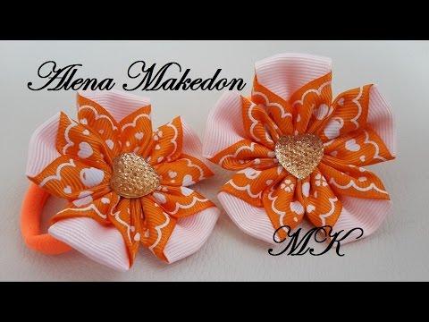 Подснежники. Весенние цветы Канзаши. arkwars.ru