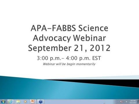 science advocacy