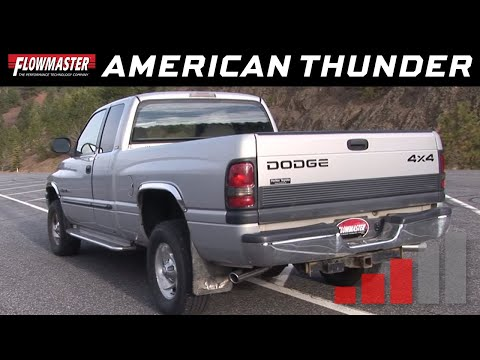 94-01 Dodge Ram 1500 Flowmaster Stainless Cat-Back System# 817429 17429 - Installation