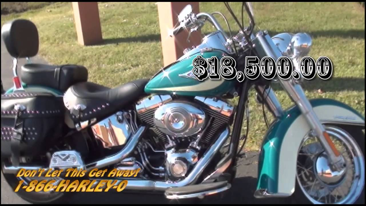 Used Harleys For Sale >> Pre-Owned Harleys for Sale 2009 Two-tone Turquoise, White Heritage Softail® Classic Harley ...