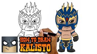 How to Draw Kalisto | WWE Superstars