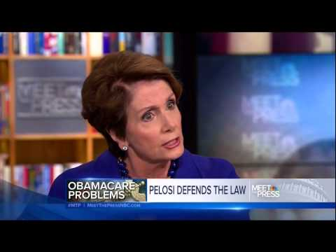 Pelosi taken apart by David Gregory on false Obamacare promises