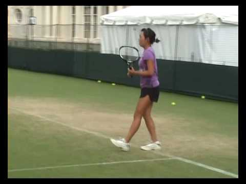 Vania King practicing Video