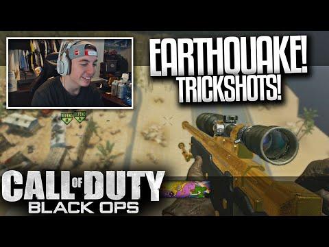 EARTHQUAKE TRICKSHOTS ft. Crude! - BO1 Trickshots (Aimbot, Mods, Hacks)