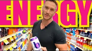 Energy Drink Haul! How to Choose a Healthy Energy Drink at the Grocery Store