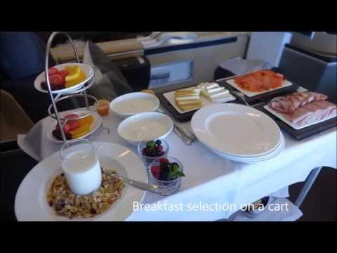 Lufthansa first class - Montreal-Munich A330