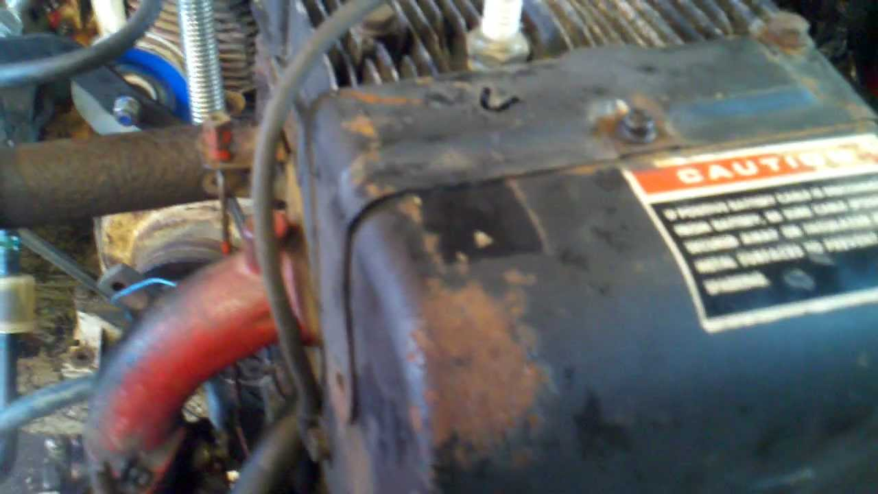 Briggs Stratton Com >> Cast Iron Briggs & Stratton Engine 16hp 25.8ft/lbs Torque at 2700 RPM Model 326437 Start and Run ...