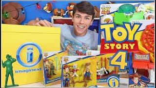 TOY STORY 4 ABRINDO BRINQUEDOS  IMAGINEXT MATTEL PETER TOYS