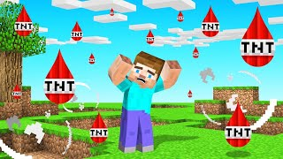 MINECRAFT But The Rain Is TNT!