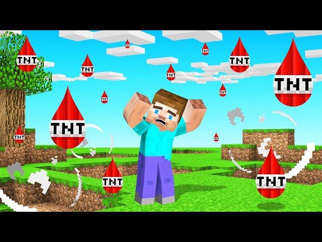 MINECRAFT But The Rain Is TNT!