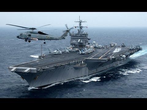 Nuclear-Powered USS Enterprise (CVN-65) On Final Voyage - Super Porta-Aviões dos EUA Missão Final