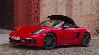 Porsche 718 Boxster T Design in Guards Red