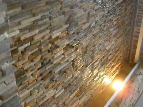 Cascada de rebose sobre youtube for Paredes de piedra exteriores