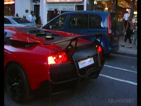 Arab supercar invasion of london 2010 - Part 2 (CCXR, LP670-4, Veyron, 458, Countach)