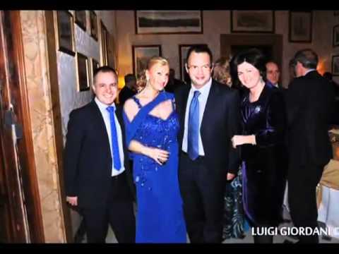 Palazzo Ferrajoli 2012, Antonello De Pierro e Luigi Bruno al party di Sara Iannone