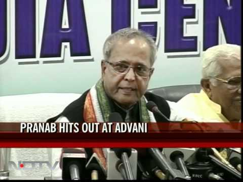 Pranab: Why didn't Advani push Lokpal Bill?