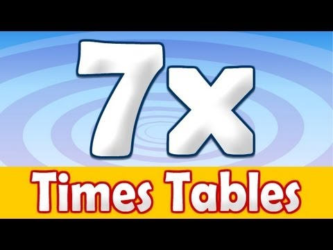7 x times table math song youtube for 12x table song
