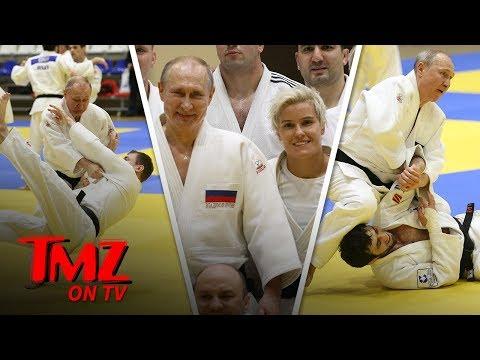 Vladimir Putin Hits The Judo Mats With Russian Olympic Babe Tmz Tv