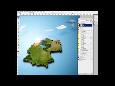 Photoshop - Acción para crear mapas realistas en 3D