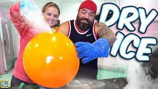 GIANT BALLOON Inflated WITH DRY ICE! Fun DIY Science Experiment