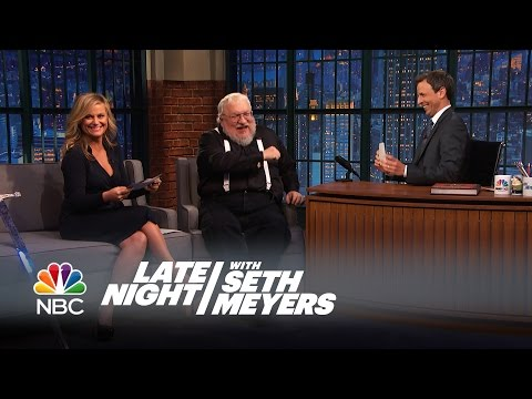 George R. R. Martin, Amy Poehler and Seth Play Game of Thrones Trivia — Late Night with Seth Meyers