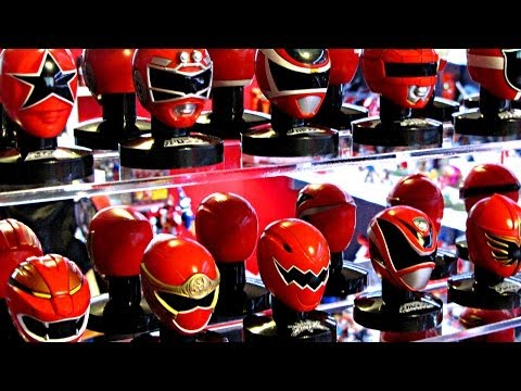 Sentai Mask Collection Display Case! (Power Rangers Helmets)