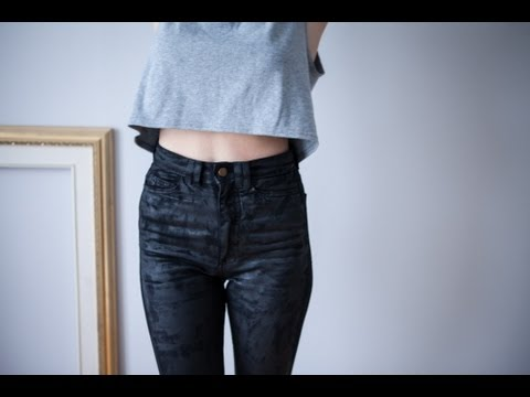 DIY faux waxed denim by Boat People Vintage