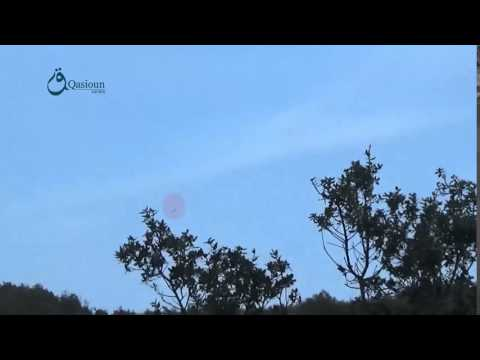 Qasioun News: Lattakia: Moment of dropping a missile by the regime forces over Kurd Mount 18-11-2015
