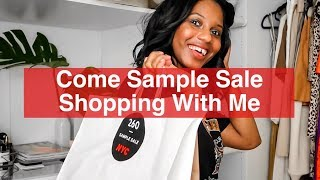 COME SAMPLE SALE SHOPPING WITH ME: Rent The Runway, Tibi, Phillip Lim | MONROE STEELE