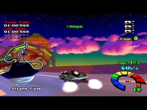 Motor Toon Grand Prix (1994) Gameplay Championship Race- PSX,PSONE,PlayStation