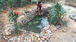 Primitive Life:Fish Pond-part4-Drop fish-relaxing!
