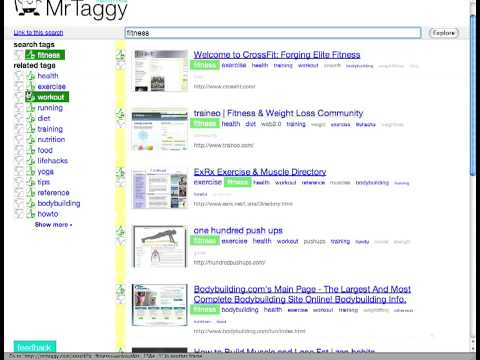 Think of MrTaggy as a cross between a search engine and a recommendation ...