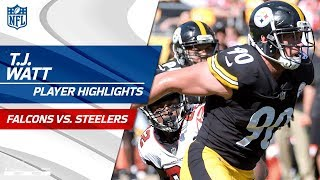 T.J. Watts Best Plays Against Atlanta  Falcons vs. Steelers  Preseason Wk 2 Player Highlights