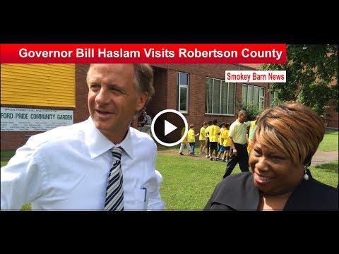 Governor Bill Haslam Visits Robertson County