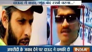 Why Dawood Ibrahim Threatens Shahid Afridi over Javed Miandad's Match Fixing Remark