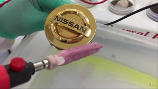 How to: Gold Plating on Chrome Items - Plastic Car Emblem - Kit Demo (NEW)