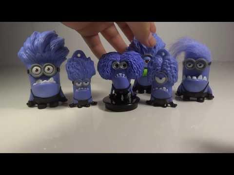 Despicable Me 2 Evil Purple Minion Cup Topper Toy Review