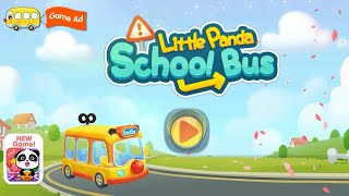 Little Panda School Bus let's drive Android gameplay