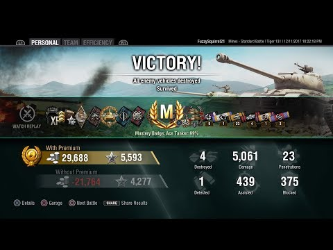World of Tanks Console Tiger 131 ACE Tanker