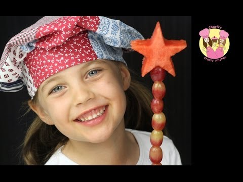 FRUITY FAIRY WAND - make a fruit wand for your fairies - Very easy and it's healthy