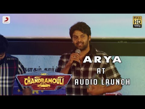Arya Speech at Mr. Chandramouli Audio Launch