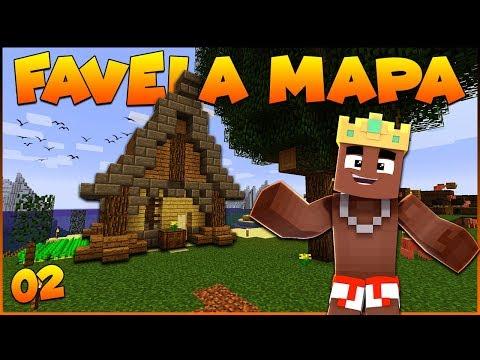 FAVELA MAPA #2 - A CASA de PESCA (Vanilla Minecraft 1.13 - Survival Let's Play)