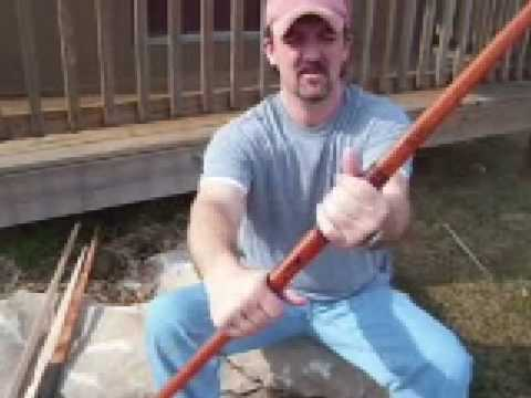 Making a Longbow & Recurve Bow Part 9 View Finished Longbow & Recurve Bow