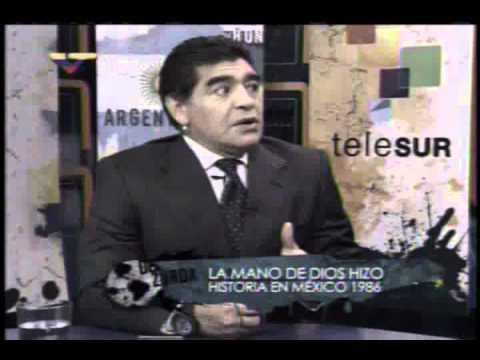 Maradona cuenta cómo metió el gol con la mano