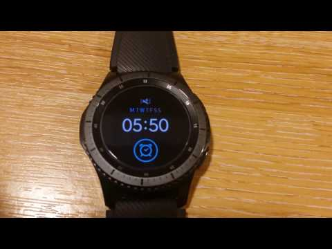 Samsung Gear S3 - Setting Multiple Alarms & use Vibrate only etc