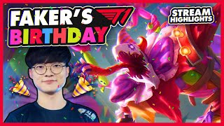 Faker Celebrates His Birthday | T1 League of Legends Best Moments