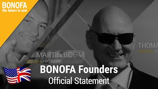 Thomas Kulla & Martin Böhm - BONOFA official statement 27.11.2015 - BONOFA