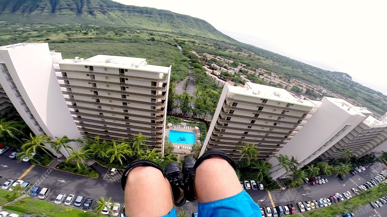 A Quick Aloha To The Buildings In Hawaii As You Speedfly Past