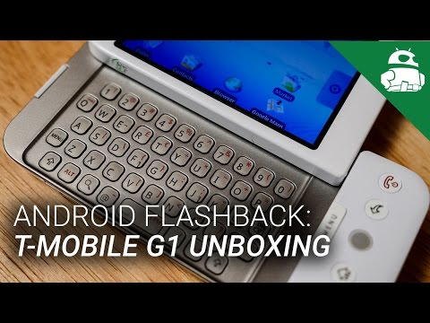 T Mobile G1 by HTC Unboxing and Initial Setup | Android Flashback